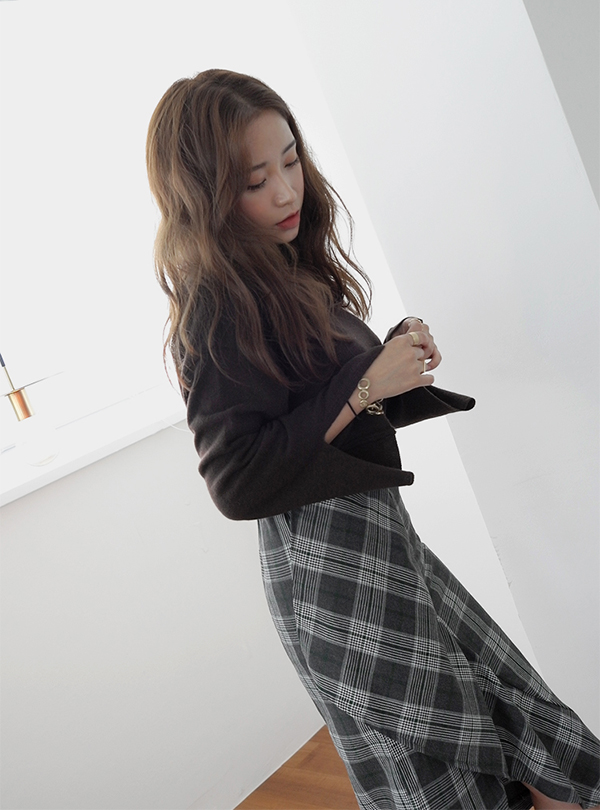 베이직핏 소매트임 울 니트