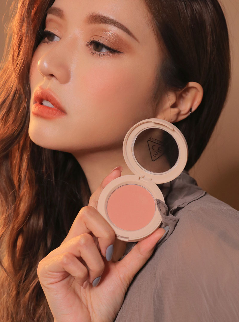 3CE MINIMAL ELEMENTS FACE BLUSH #ROSE BEIGE